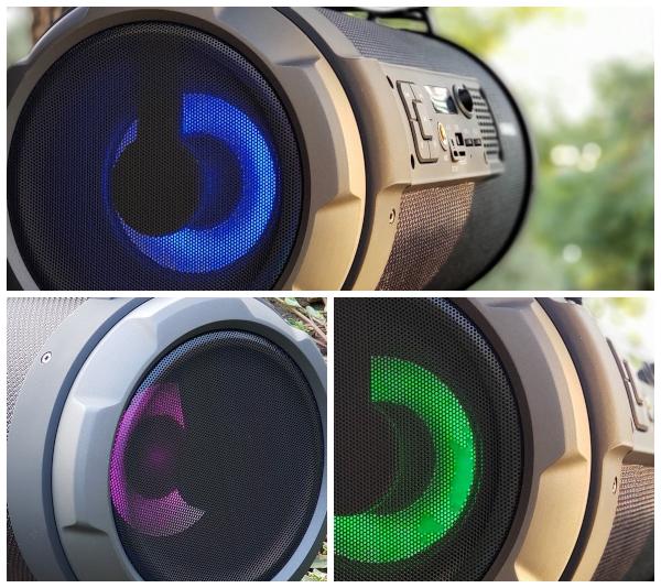 Динамики Real-EL X-730 обладают RGB подсветкой