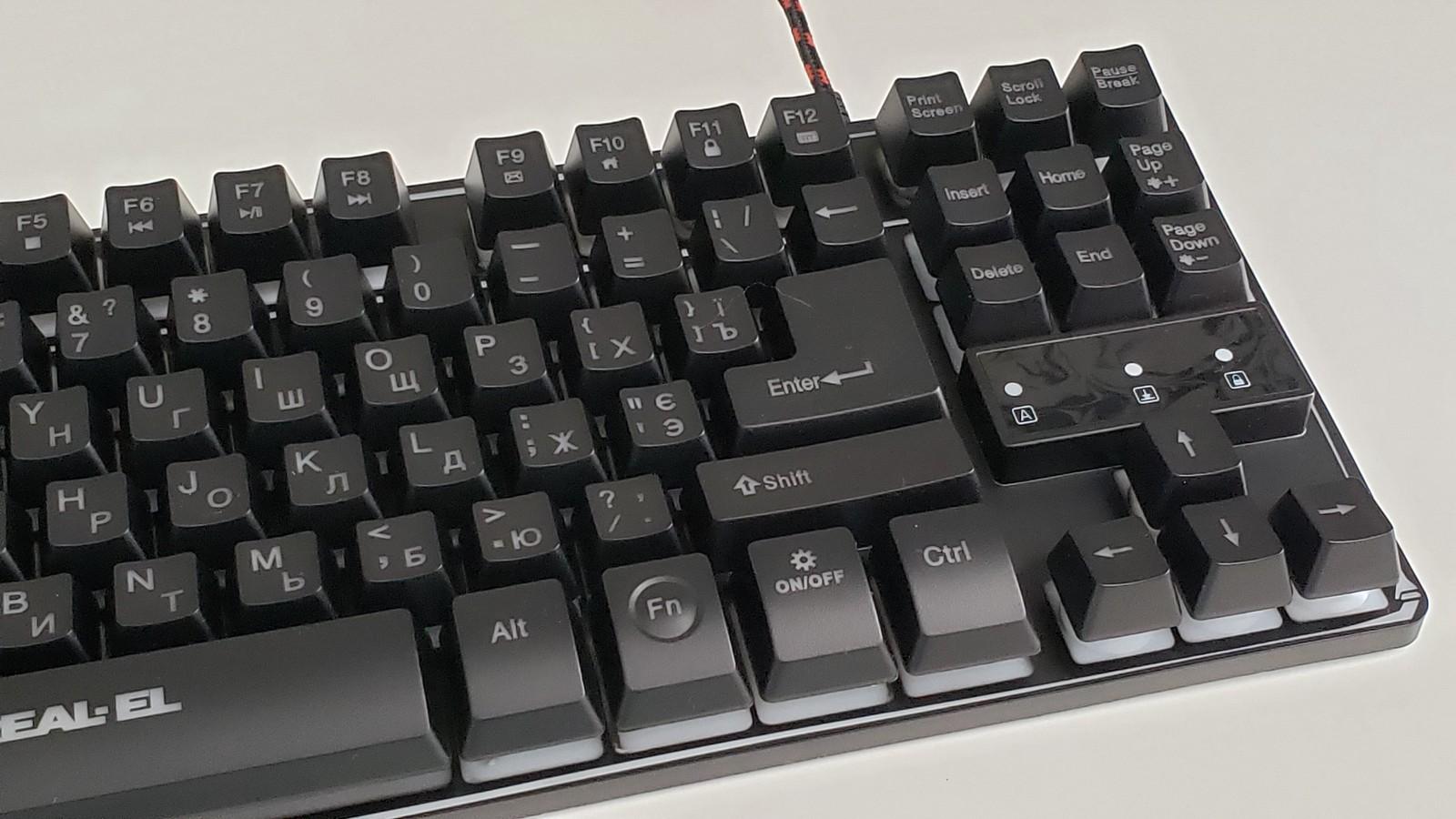 Фото клавиатуры REAL-EL Gaming 8710 TKL Backlit