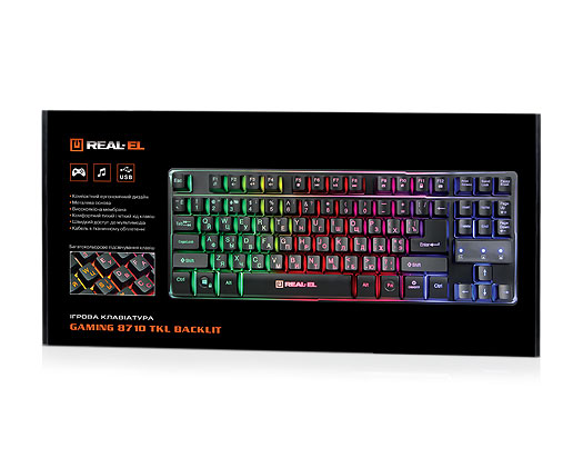 REAL-EL Gaming 8710 TKL Backlit