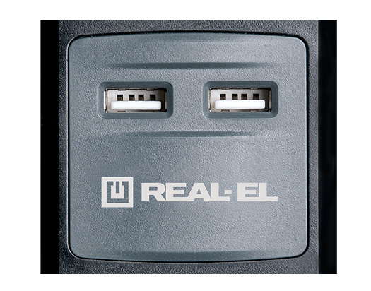 Сетевой удлинитель REAL-EL RS-5 USB Charge